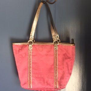 Pink glittery Coach Purse